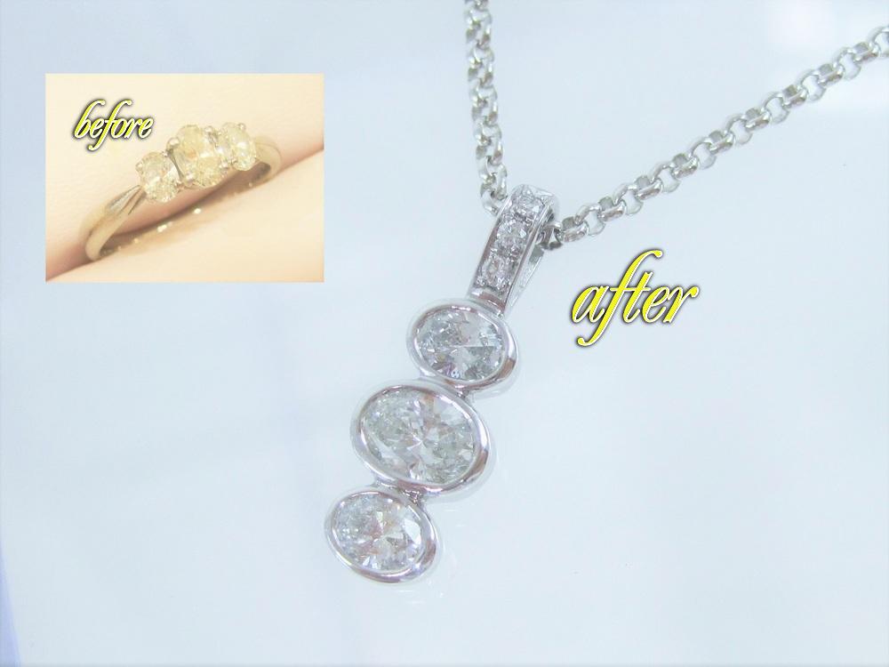 オーバルカットのダイヤです。