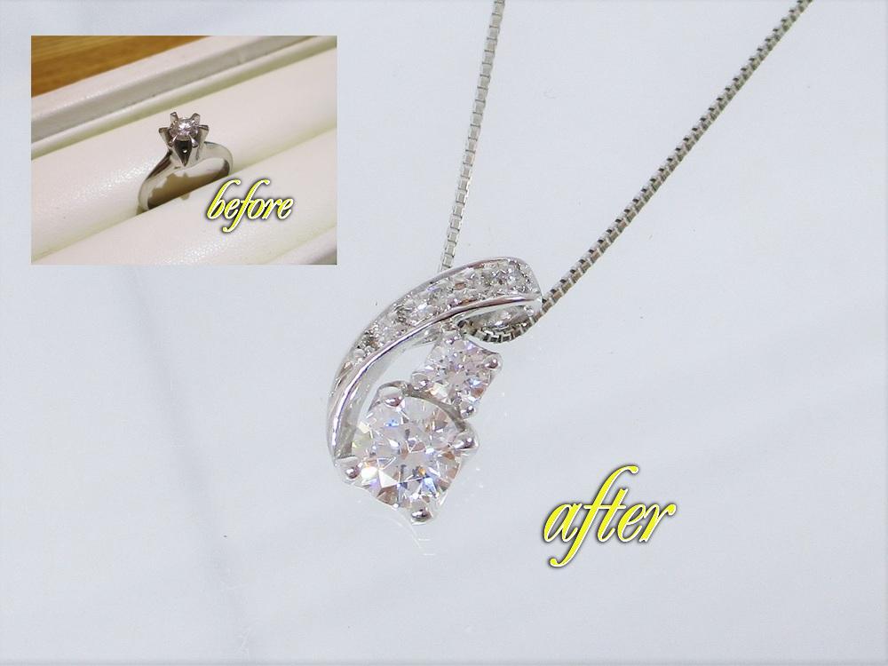メレダイヤたっぷりの華やかなデザイン。